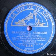 Discos de pizarra: BLANCA NIEVES - SILVANDO AL TRABAJAR / LE PIDO Y UN CANTO (SPAIN, LA VOZ DE SU AMO SIN FECHA). Lote 236428055