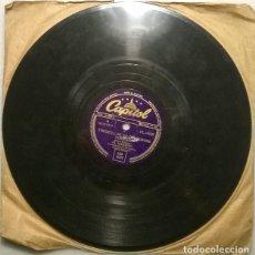 Discos de pizarra: AL MARTINO. WANTED/ THERE'LL BE NO TEARDROPS TONIGHT. CAPITOL, UK 1954 PIZARRA 10'' 78 RPM. Lote 236458680