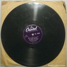 Discos de pizarra: THE JOHNNY OTIS SHOW. MA/ ROMANCE IN THE DARK. CAPITOL, UK 1957 PIZARRA 10'' 78 RPM. Lote 236460845