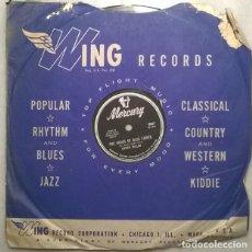 Discos de pizarra: CHUCK MILLER. THE HOUSE OF BLUE LIGHTS/ CAN'T HELP WONDERIN/ MERCURY USA 1955 PIZARRA 10'' 78 RPM. Lote 236464025