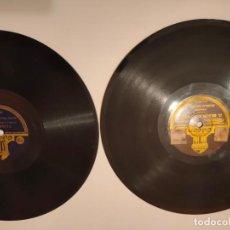 Discos de pizarra: LOTE DOS DISCOS DE PIZARRA ODEON. Lote 236489465