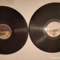 Discos de pizarra: LOTE DOS DISCOS DE PIZARRA ODEON. Lote 236489680