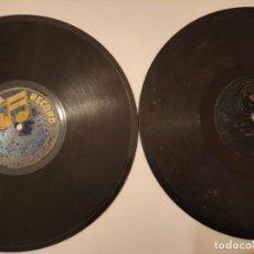 Discos de pizarra: LOTE DOS DISCOS DE PIZARRA COLUMBIA RECORD Y REGAL. Lote 236490085