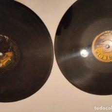 Discos de pizarra: LOTE DOS DISCOS DE PIZARRA ELECTROLA Y LA VOZ DE SU AMO. Lote 236490590