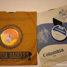 Discos de pizarra: LOTE DOS DISCOS DE PIZARRA COLUMBIA. Lote 236490740