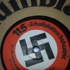 Discos de pizarra: 78 RPM NAZI PIZARRA INDUSTRIE (NSDAP) SA LIEDER POTPOURRI. TEIL I AND II. Lote 236705550
