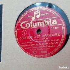 Discos de pizarra: ALBUM EL CONCIERTO DE ARANJUEZ. Lote 236793615