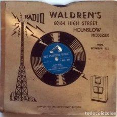 Discos de pizarra: FRANK CORDELL. SADIE'S SHAWL/ FLAMENCO LOVE. HIS MASTER'S VOICE, UK 1956 PIZARRA 10'' 78 RPM. Lote 236835260