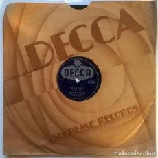 Discos de pizarra: JIMMY YOUNG. CHAIN GANG/ CAPRI IN MAY. DECCA, UK 1956 PIZARRA 10'' 78 RPM. Lote 236835935