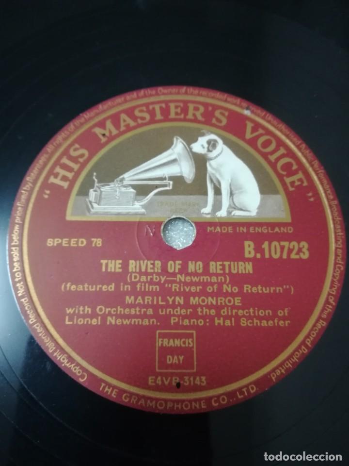 DISCO DE 78 RPM MARLILYN MONROE (Música - Discos - Pizarra - Solistas Melódicos y Bailables)