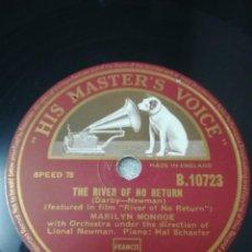 Discos de pizarra: DISCO DE 78 RPM MARLILYN MONROE. Lote 236928810