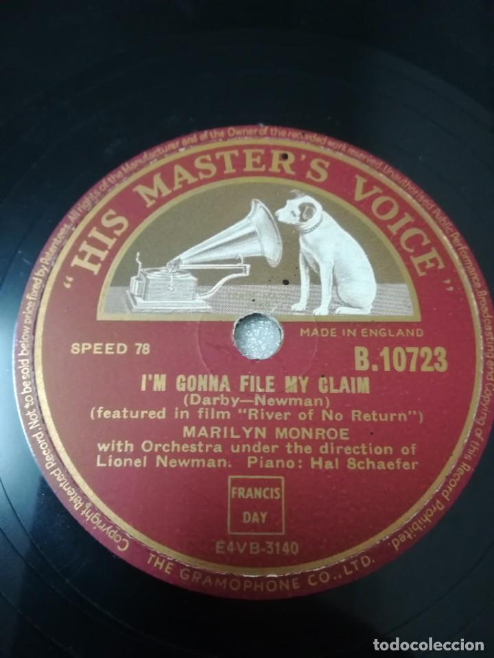 Discos de pizarra: Disco de 78 RPM Marlilyn Monroe - Foto 2 - 236928810