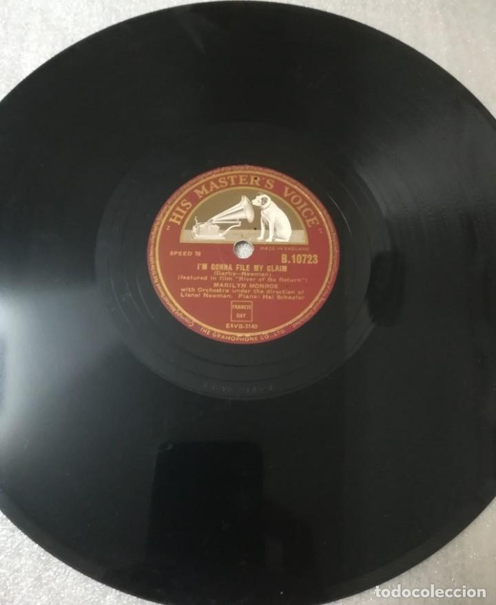 Discos de pizarra: Disco de 78 RPM Marlilyn Monroe - Foto 5 - 236928810
