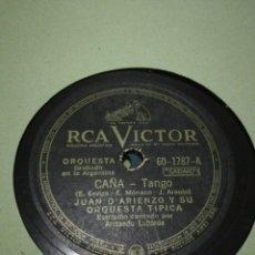 Discos de pizarra: LOTE 11 DISCOS DE 78RPM TANGO ARGENTINO. Lote 237002630