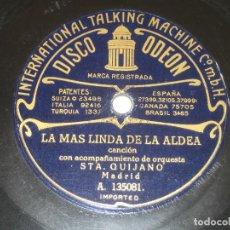 Discos de pizarra: MATILDE ARAGON Y SEÑORITA QUIJANO - DISCO COMPARTIDO - LA MANTECA. Lote 237011115