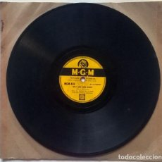 Discos de pizarra: HANK WILLIAMS & HIS DRIFTING COWBOYS. I'M A LONG GONE DADDY/ COLD COLD HEART. MGM UK 10'' 78 RPM. Lote 237193840