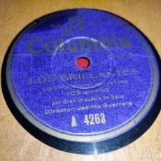 Disques en gomme-laque: ORQUESTA BAILE DIR JACINTO GUERRERO LOS BRILLANTES FOX GITANO/CUSTODIA MOLINA 10 COLUMBIA A4263. Lote 237374220