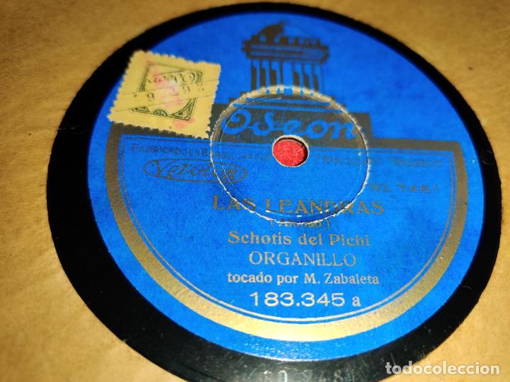 M.ZABALETA ORGANILLO LAS LEANDRAS.PASACALLE NARDOS/SCHOTIS PICHI 10 25 CTMS ODEON 183.345 (Música - Discos - Pizarra - Solistas Melódicos y Bailables)