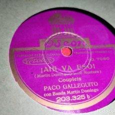Discos de pizarra: SRTA.BALLESTA&AZCARRAGA ALLA EN LA HABANA/¡AHI VA ESO! 10'' 25 CTMS ODEON 203.325 ESPAÑA SPAIN. Lote 237376130