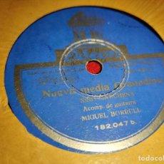 Discos de pizarra: NIÑO MARCHENA & MIGUEL BORRULL NUEVA MEDIA GRANADINA/SOLEARES MARCHENA 10'' 25CTMS ODEON 182.047. Lote 237378700