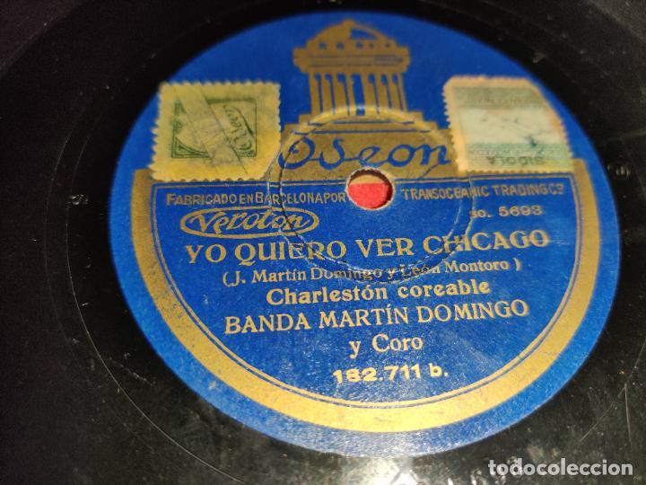 BANDA MARTIN DOMINGO YO QUIERO VER CHICAGO/¡AY TOMASA! 10 25 CTMS ODEON 182.711 (Música - Discos - Pizarra - Solistas Melódicos y Bailables)