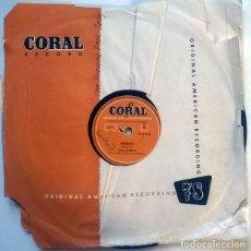 Discos de pizarra: STEVE LAWRENCE. SPEEDOO/ THE BANANA BOAT SONG. CORAL, UK 1957 PIZARRA 10'' 78 RPM. Lote 237400190
