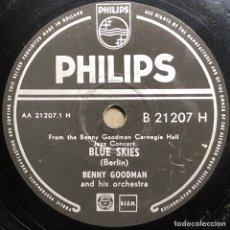 Dischi in gommalacca: DISCO PIZARRA- PHILIPS- BENNY GOODMAN - SWINGTIME IN THE ROCKIES - BLUE SKIES - 78 RPM. Lote 237767365