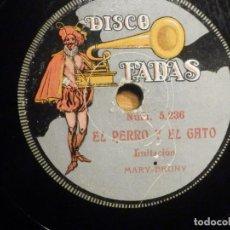 Discos de pizarra: PIZARRA FADAS NUM. 5236-7- MENGUE MATANDO EL TORO - ESCENA CÓMICA, MARY-BRUNY - EL PERRO Y EL GATO. Lote 237953295