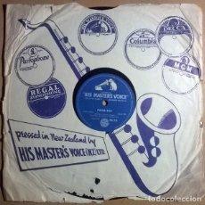 Discos de pizarra: JOHNNY COOPER. PAPER BOY/ SEE YOU LATER ALLIGATOR. HIS MASTER'S VOICE NUEVA ZELANDA 1956 10'' 78 RPM. Lote 237958835
