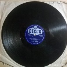 Discos de pizarra: DICKIE BISHOP & THE SIDEKICKS. JUMPIN' JUDY/ THEY CAN'T TAKE THAT AWAY FROM ME. DECCA, UK 1958 10''. Lote 238146605