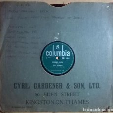 Discos de pizarra: BILLY SPROUD & THE ROCK 'N ROLL SIX. ROCK MR. PIPER/ IF YOU'RE SO SMART. COLUMBIA, UK 1957 10'' 78 R. Lote 238150200