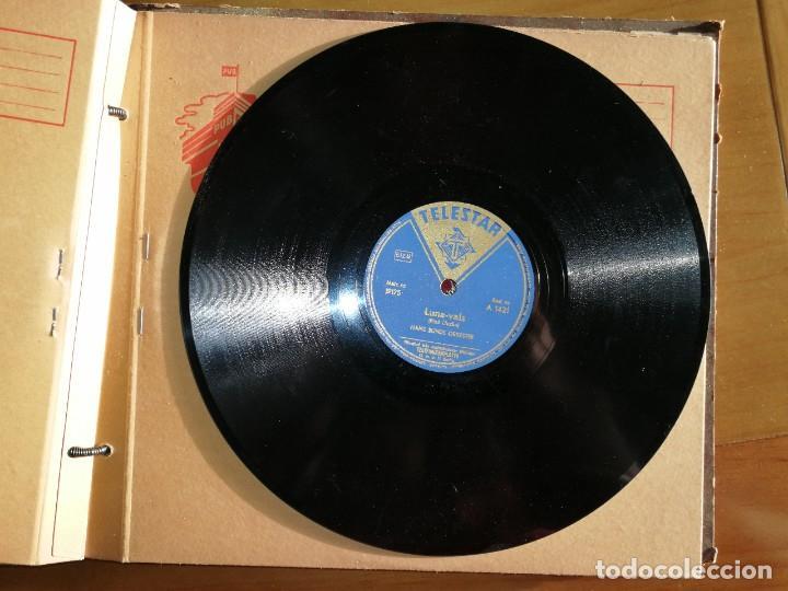 DISCO DE PIZARRA TELESTAR. LUNA-VLAS Y GOULDOCH SILVER,VALS. HANS BUNDS ORKESTER.W (Música - Discos - Pizarra - Jazz, Blues, R&B, Soul y Gospel)