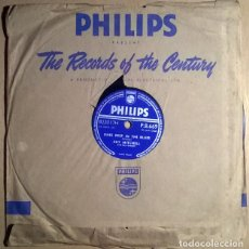 Discos de pizarra: GUY MITCHELL & RAY CONNIFF. KNEE DEEP IN THE BLUES/ TAKE ME BACK BABY. PHILIPS, UK 1957 10'' 78 RPM. Lote 238336435