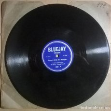 Discos de pizarra: NAT SLEDGE'S BLUEJAY DANCE BAND. JUMP'N WITH THE BLUEJAYS/ SHAPING UP. BLUEJAY 1001 1956 10'' 78 RPM. Lote 238338855