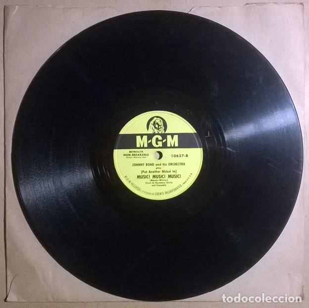 JOHNNY BOND. RAG MOP/ (PUT ANOTHER NICKEL IN ) MUSIC MUSIC MUSIC. MGM, USA 1950 PIZARRA 10'' 78 RPM (Música - Discos - Pizarra - Solistas Melódicos y Bailables)