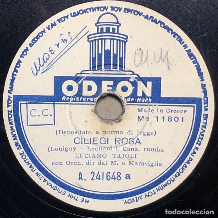 Discos de pizarra: DISCO PIZARRA -ODEON- LUCIANO TAJOLI- DOMANI-CILIEGI ROSA- 78 RPM - Foto 2 - 238605540