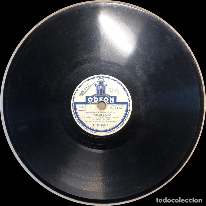Discos de pizarra: DISCO PIZARRA -ODEON- LUCIANO TAJOLI- DOMANI-CILIEGI ROSA- 78 RPM - Foto 3 - 238605540
