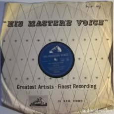 Disques en gomme-laque: DON LANG. ROCK AROUND THE ISLAND/ JUMPIN' TO CONCLUSIONS. HIS MASTER'S VOICE, UK 1958 10'' 78 RPM. Lote 239504365