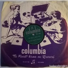 Discos de pizarra: THE RAY ELLINGTON QUARTET. THAT ROCK 'N' ROLLIN' MAN/ MARIANNE. COLUMBIA (DB. 3905), UK 10 '' 78 RPM. Lote 239507690
