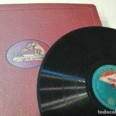 Discos de pizarra: ALBUM CON 12 DISCOS DE GRAMÓFONO (LA VOZ DE SU AMO Y DECCA). Lote 240103680