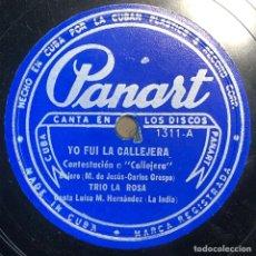 Dischi in gommalacca: 78 RPM - PANART - TRIO LA ROSA TITULOS : YO FUI CALLEJERA / YO NO CREO EN LOS HOMBRES- GUARACHA. Lote 240447885