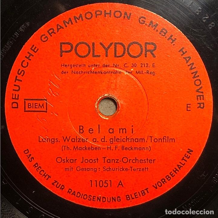 Discos de pizarra: 78 RPM - POLYDOR -OSKAR JOOST - JOJ , JOJ , JOJ / BELAMI - FOX TROT - Film - Foto 2 - 240571320