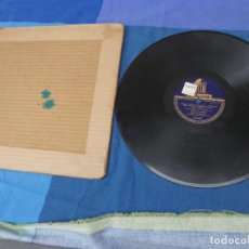Discos de pizarra: EXPRO DISCO PIZZARRA CON GRIETA HIMNO CONGRESO EUCARISTICO BARCELONA 1952. Lote 241024470