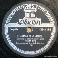 Dischi in gommalacca: 78 RPM - ODEON - PEDRITO RICO / F. MARZAN TITULOS : CAMPANERA / EL CORDÓN DE MI VESTIDO - PASODOBLE. Lote 241175935