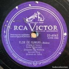 Dischi in gommalacca: 78 RPM - RCA VICTOR - MAESTRO GONZALO ROIG - FLOR DE YUMURI / EL MAMBI - ZARZUELA - CUBA. Lote 241224550