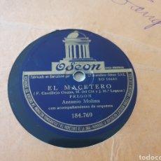 Discos de pizarra: 78 RPM ANTONIO MOLINA. Lote 241437905