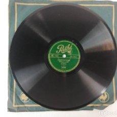 Discos de pizarra: ANTIGUO DISCO DE PIZARRA BOURBIL-LA PLUME-LINVENTEUR -PATHE DISCOS. Lote 241480270