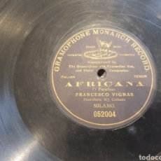 Discos de pizarra: AFRICANA TENOR FRANCESCO VIGNAS. Lote 241719980