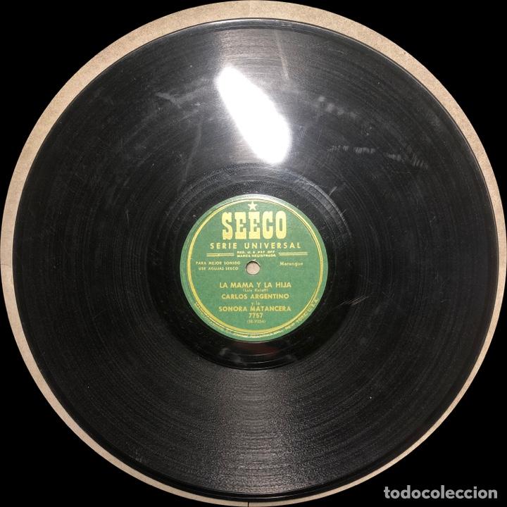 Discos de pizarra: 78 RPM - SEECO - Carlos Argentino / Sonora Matancera -Que Feliz Seria Asi / La Mama y la hija - Foto 3 - 242938000