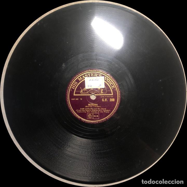 Discos de pizarra: 78 RPM - HIS MASTER VOICE - Don Carlos and His Band - The Bandit / Mexicana - CUBA MUSIC - Foto 3 - 242940760